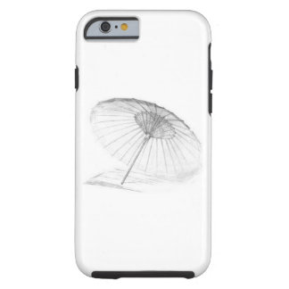 White Chinese Paper Umbrella iPhone Case