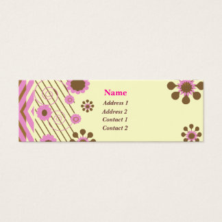 White Chocolate and Pink Business Card