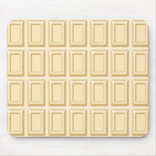 White Chocolate Bar Texture Mousepads