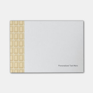 White Chocolate Bar Texture Post-it Notes