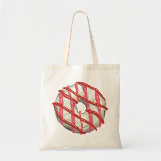 White Chocolate Dipped Doughnut. Tote Bag