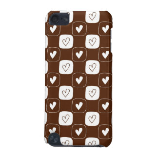 White Chocolate Hearts iPod Touch 5G Covers