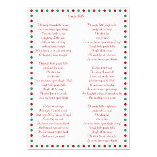 White Christmas Carol Jingle Bells Christmas Cards 13 Cm X 18 Cm Invitation Card