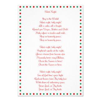 White Christmas Carol Silent Night Christmas Cards 13 Cm X 18 Cm Invitation Card