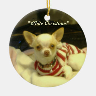 """White Christmas"" Chihuahua Tree Ornament"