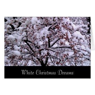 White Christmas Dreams Card