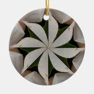 White Christmas Flower Mandala Ornament