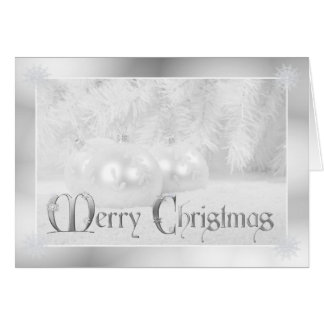 White Christmas Holiday Greeting Greeting Card