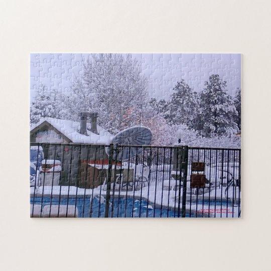 White Christmas in Arizona Jigsaw Puzzle