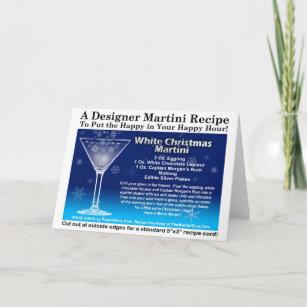 white christmas martini cocktail recipe card - White Christmas Martini Recipe