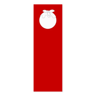 White Christmas Pudding, on Red. Business Card Template