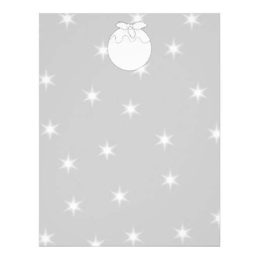 White Christmas Pudding with Stars. Flyers