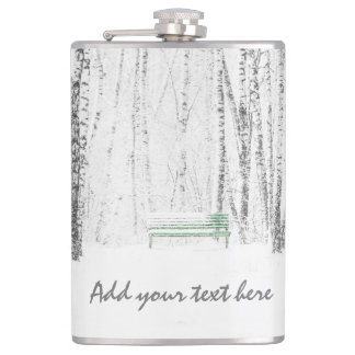 White Christmas Tale Hip Flask