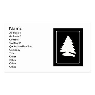 White Christmas Tree Business Card