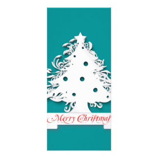 White Christmas tree illustration Rack Cards