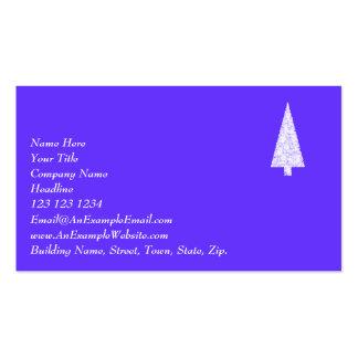 White Christmas Tree. On Blue - Purple. Business Cards