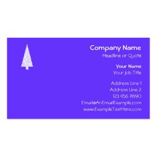 White Christmas Tree. On Blue - Purple. Business Card