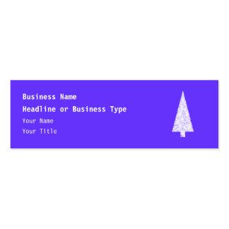 White Christmas Tree. On Blue - Purple. Business Card Templates