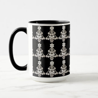 White Christmas Tree Ornament Mug
