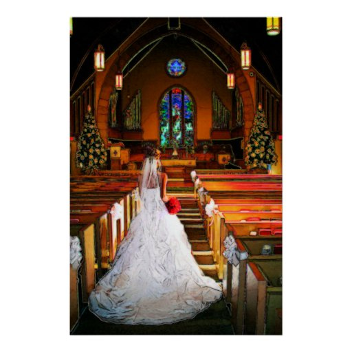 White Christmas Winter White Wedding Gown Posters