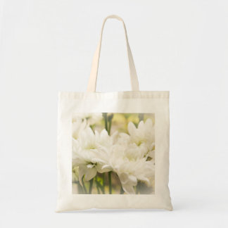 White Chrysanthemum Flowers Budget Tote Budget Tote Bag