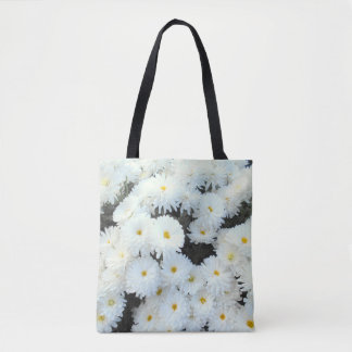 White Chrysanthemum Flowers Tote Bag