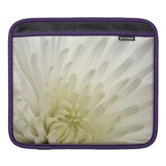 White Chrysanthemum iPad Sleeve