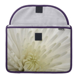 White Chrysanthemum Sleeves For MacBooks