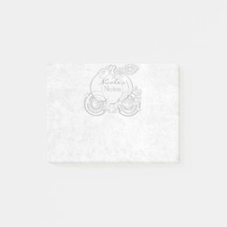 White Cinderella Carriage Storybook Personalized Post-it Notes