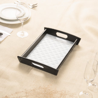 White circle embossed serving tray