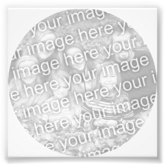 White Circle Frame Photo Photographic Print