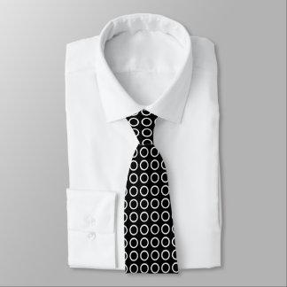 White Circles Black Tie