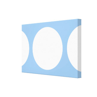 White Circles on Light Blue Gallery Wrapped Canvas