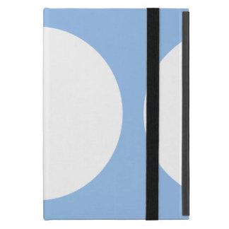 White Circles on Light Blue Covers For iPad Mini