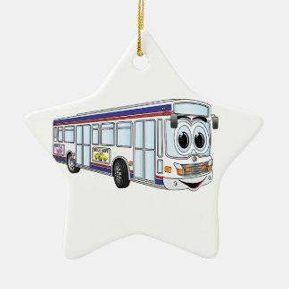 White City Bus Cartoon Ceramic Ornament