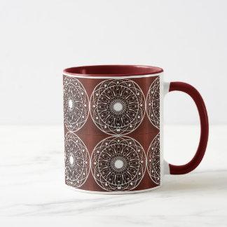 White Claret  Mandala Pattern Mug