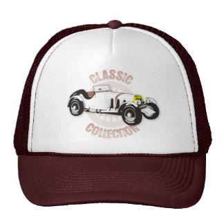White classic racing car cap