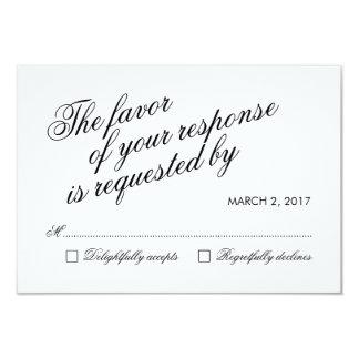 White Clean Elegant Calligraphy Wedding RSVP Card 9 Cm X 13 Cm Invitation Card