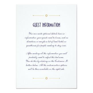 White Clean Nautical Wedding Insert Card 11 Cm X 16 Cm Invitation Card