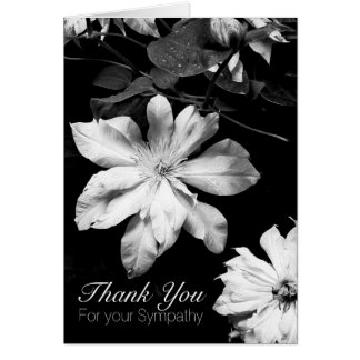White Clematis 1 Sympathy Thank You Note Card