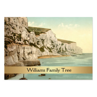 White Cliffs of Dover England Family Tree Business Card Template
