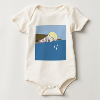 White Cliffs Summer Baby Bodysuit