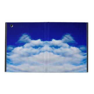 White cloud face against a blue sky cases for iPad