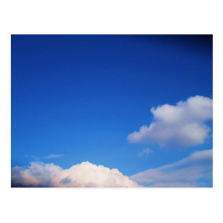 White Clouds & Blue Sky Post Card