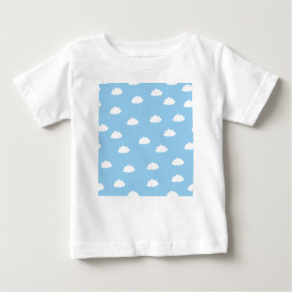 White clouds in blue background baby T-Shirt