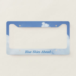 White Clouds in Blue Sky Licence Plate Frame