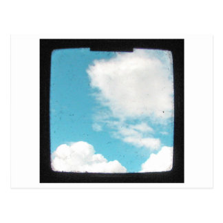 White Clouds in Blue Sky Postcard