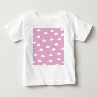 White clouds in pink background baby T-Shirt