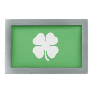 White Clover Leaf Belt Buckle