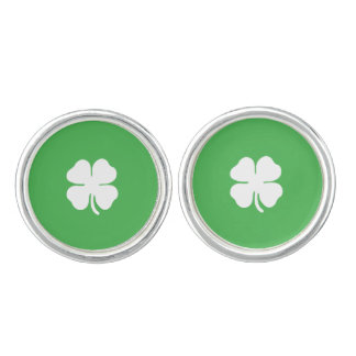 White Clover Leaf Cufflinks